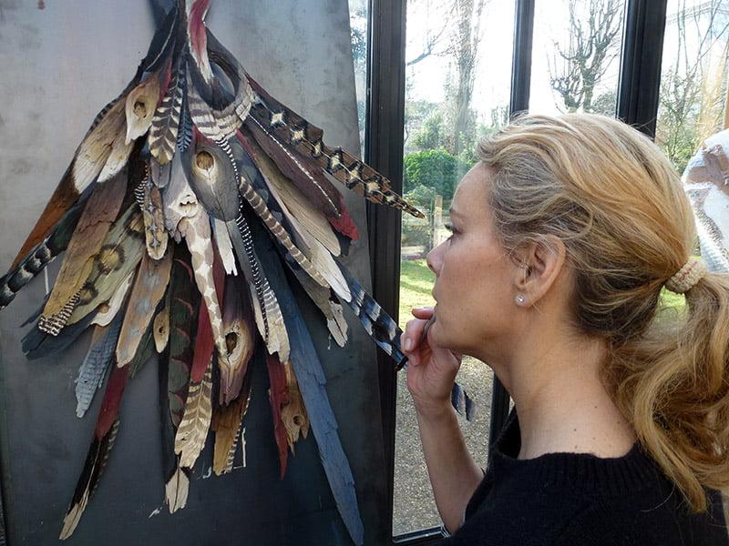 Atelier d'artiste sculptrice suisse